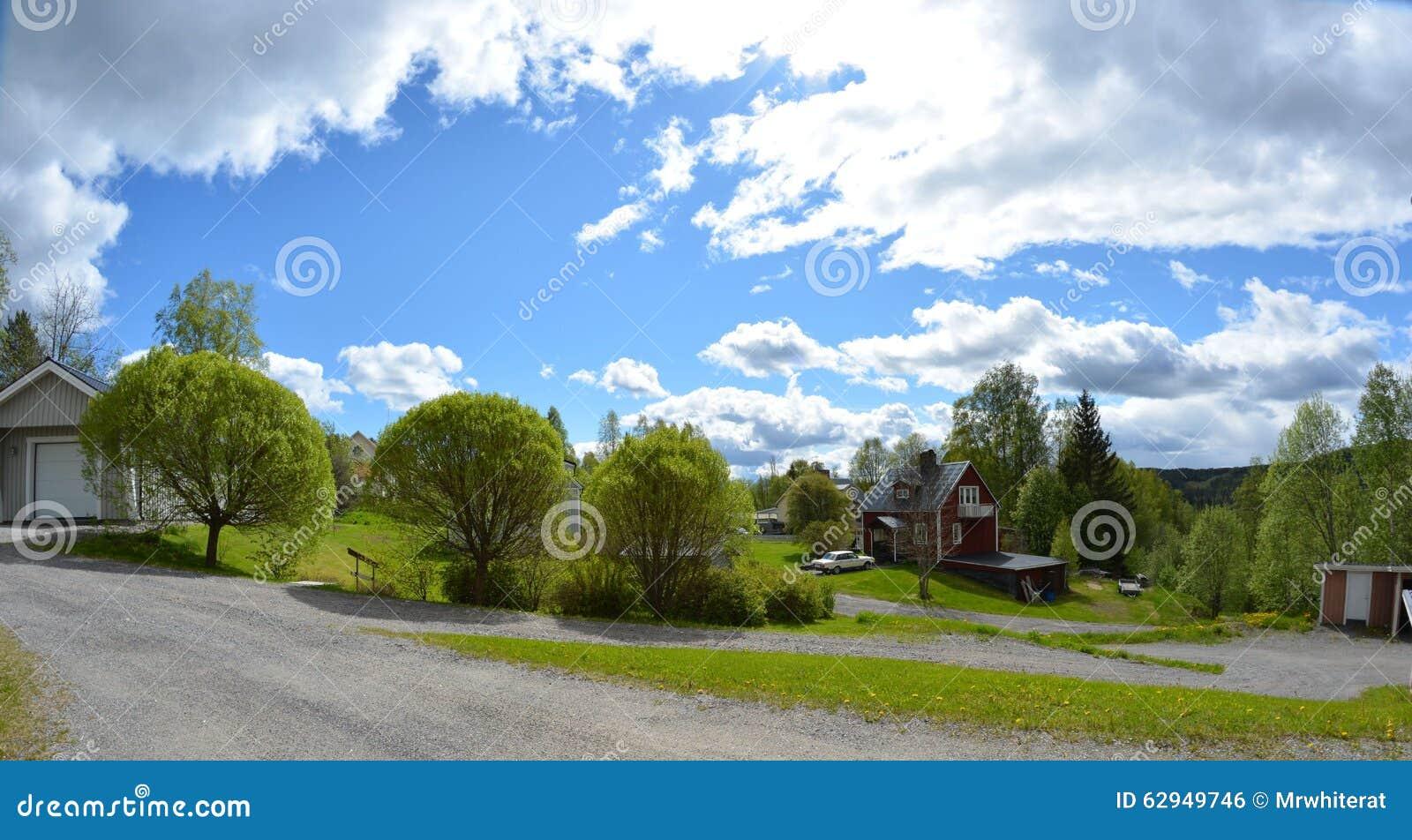 Szwedzi ogród i domy