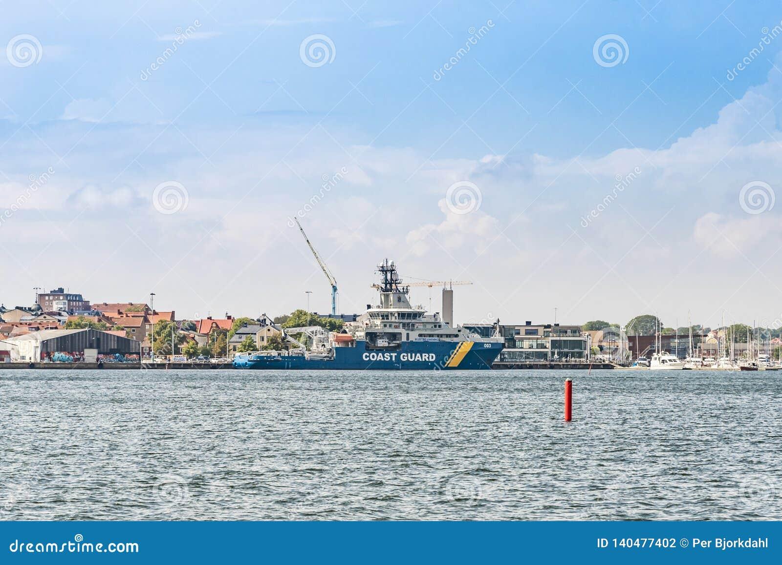 Szwedzka straż przybrzeżna Wielo- Zamierzać naczynie KBV 003 Amfitrite