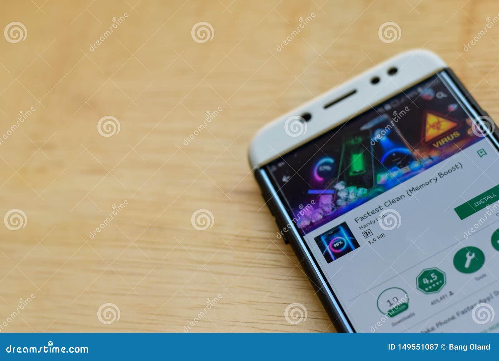 Szybki Czysty dev zastosowanie na Smartphone ekranie Pamięci zwiększenie jest freeware przeglądarką internetową