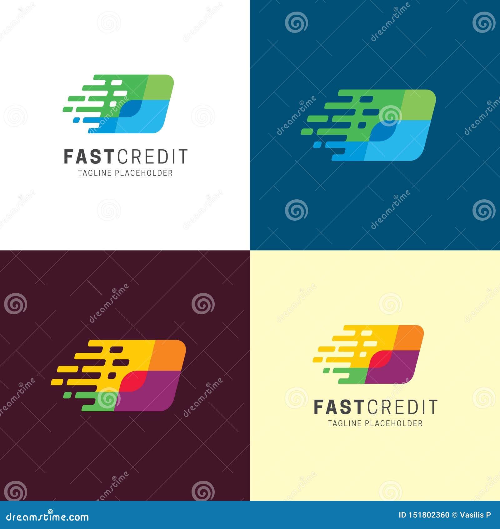 Szybki Kredytowy logo i ikona r?wnie? zwr?ci? corel ilustracji wektora