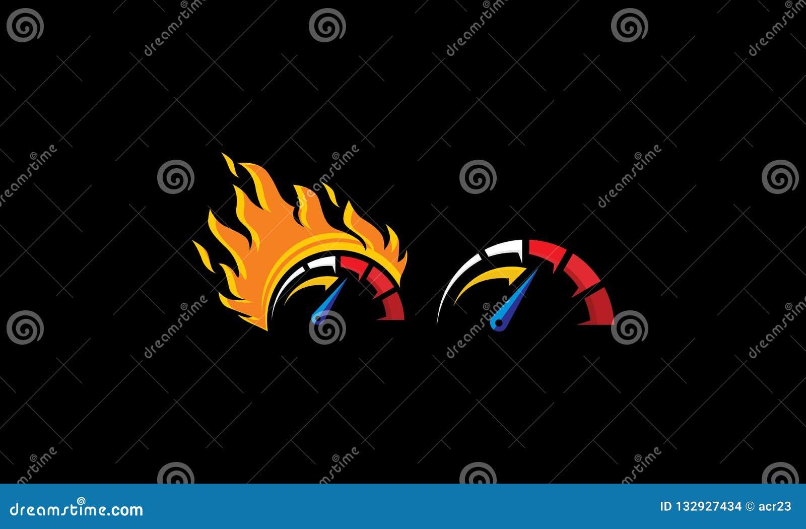Szybkościomierza logo ikony wektorowa prędkość