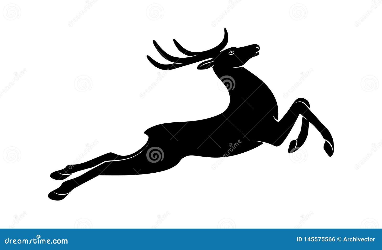 Szyldowa działająca jelenia czarna sylwetka