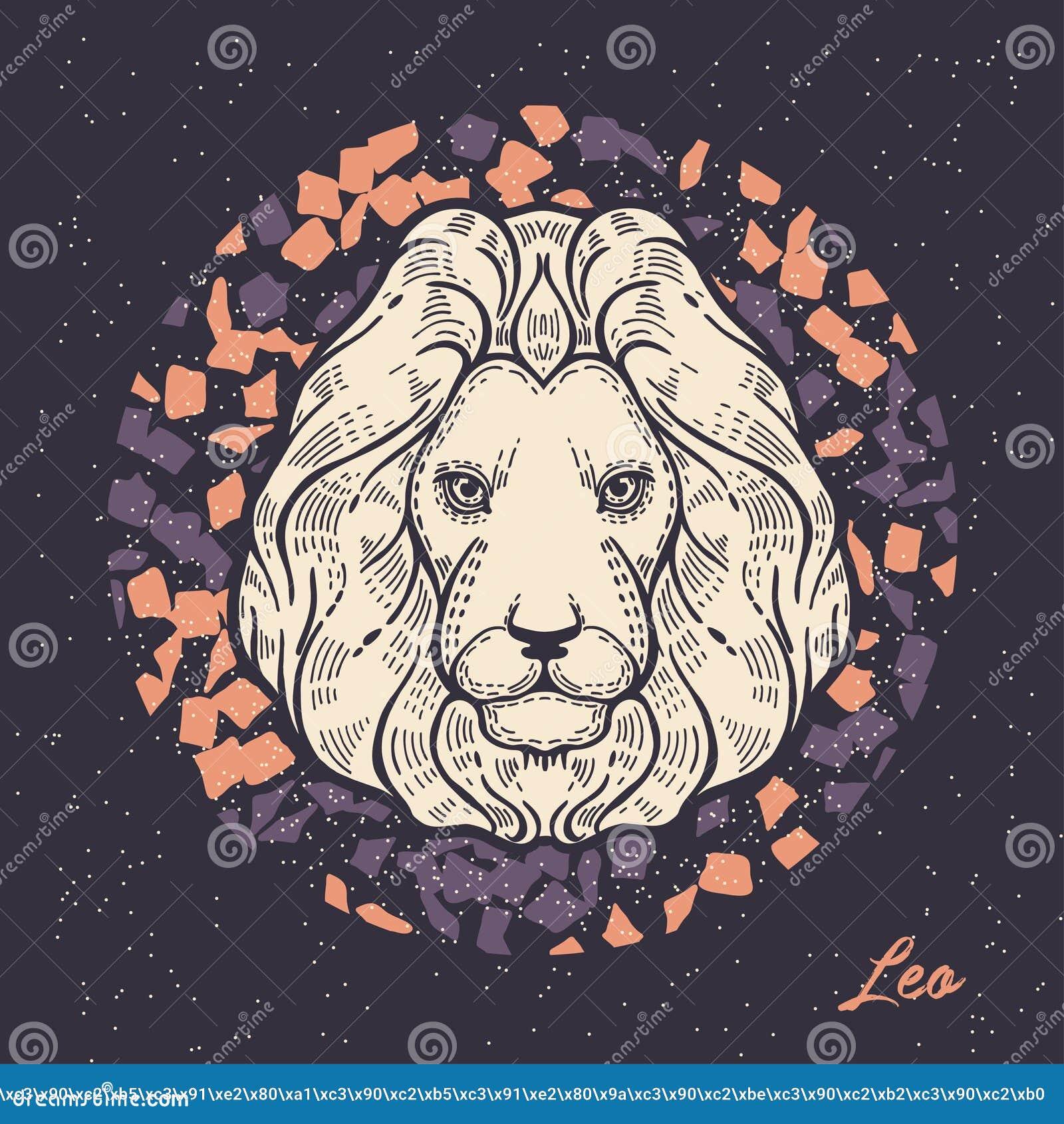 Szyldowy Leo zodiak Symbol astrologiczny horoskop