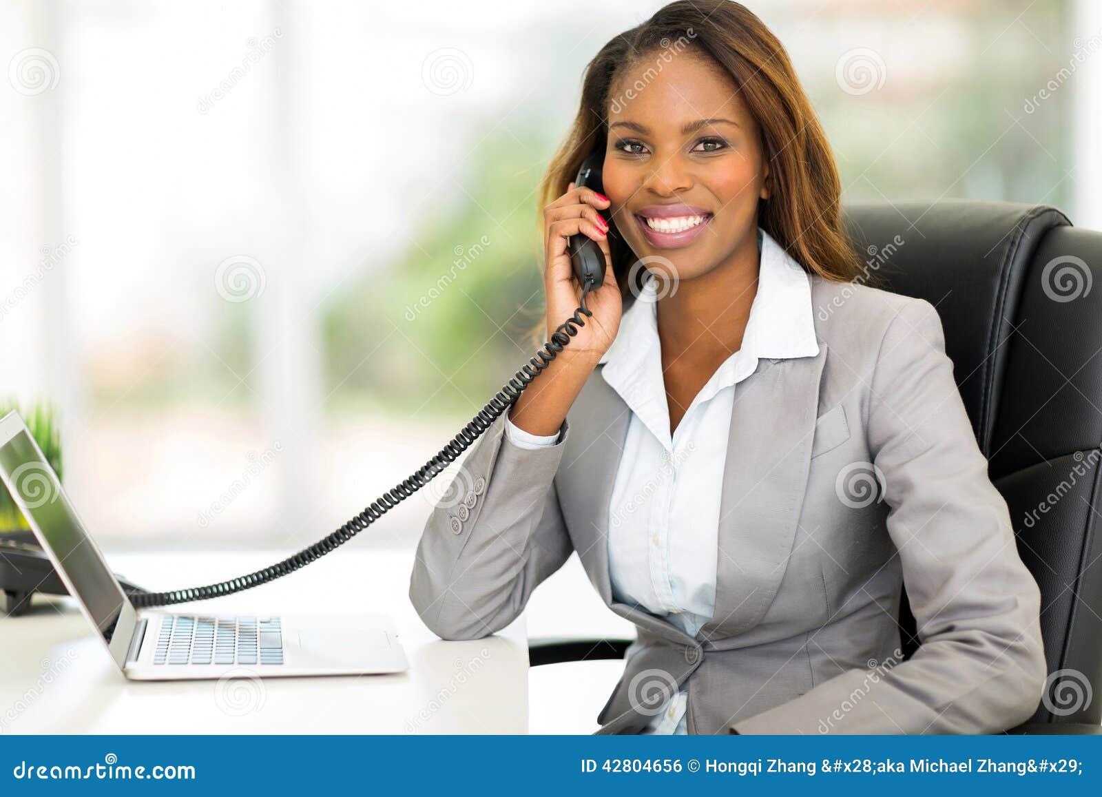 Tlphone Africain Demploy De Bureau Photo stock Image 42804656