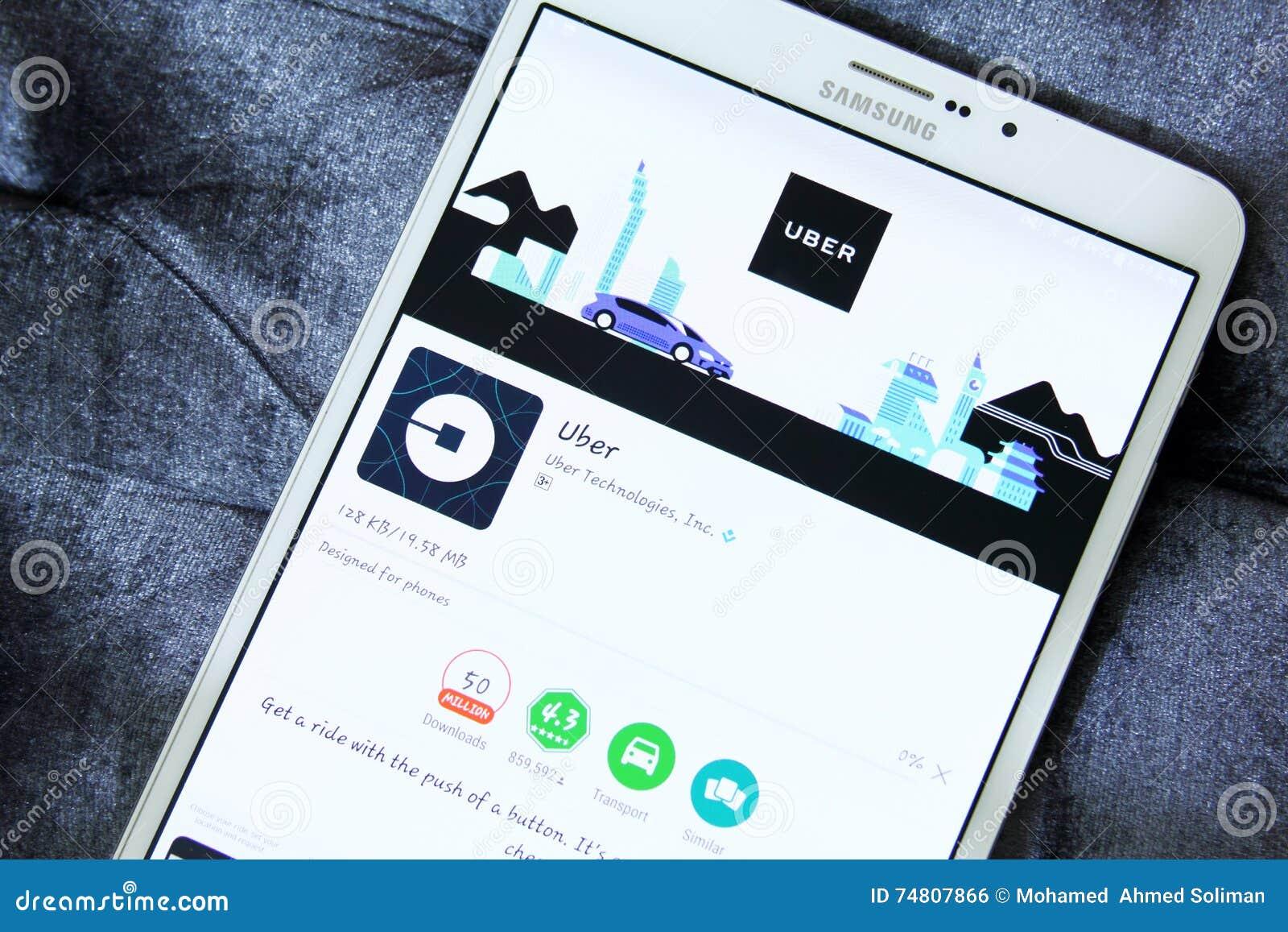 Táxi App De Uber No Jogo De Google Foto Editorial - Imagem