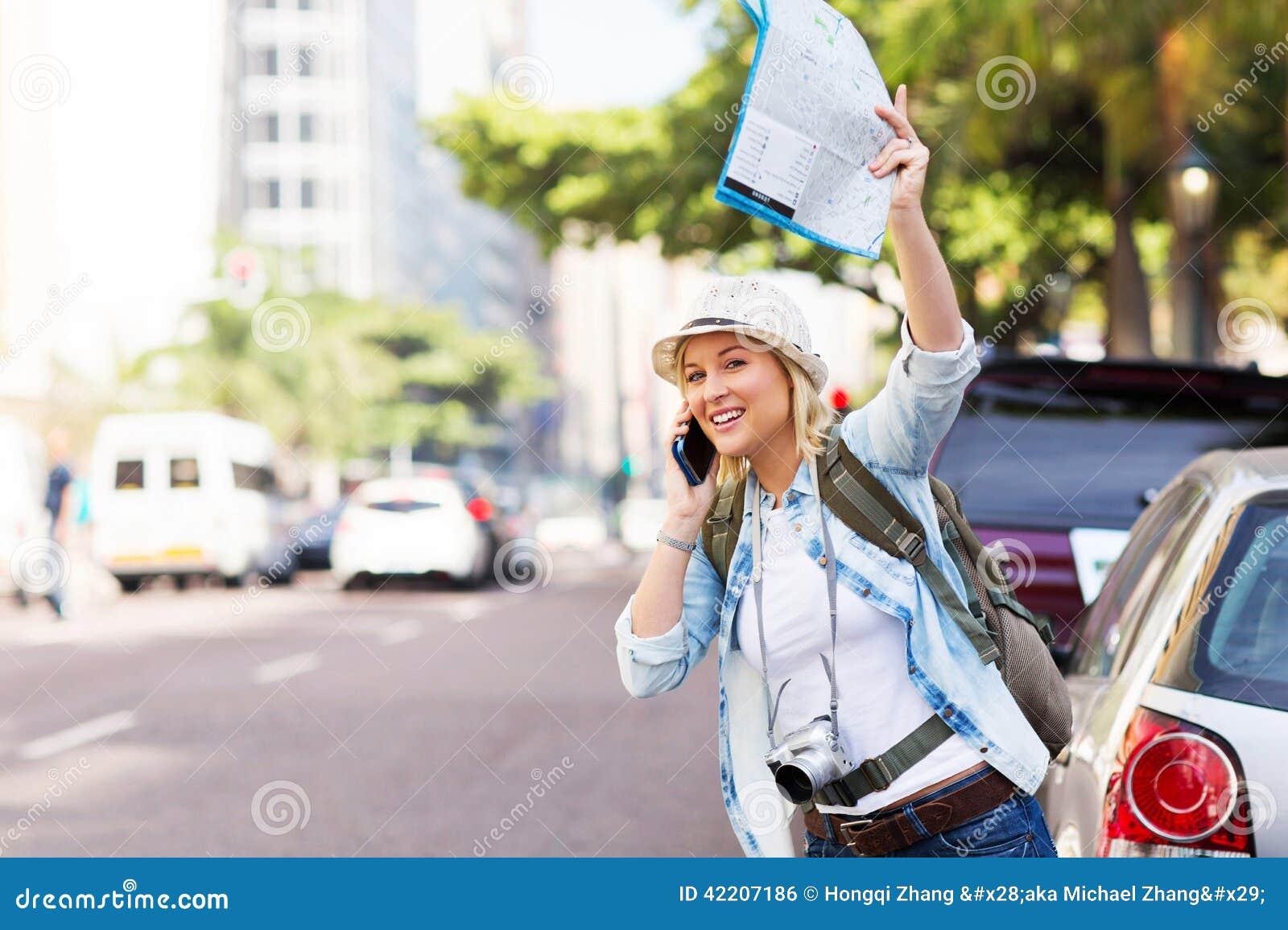 Táxi de saudação do turista