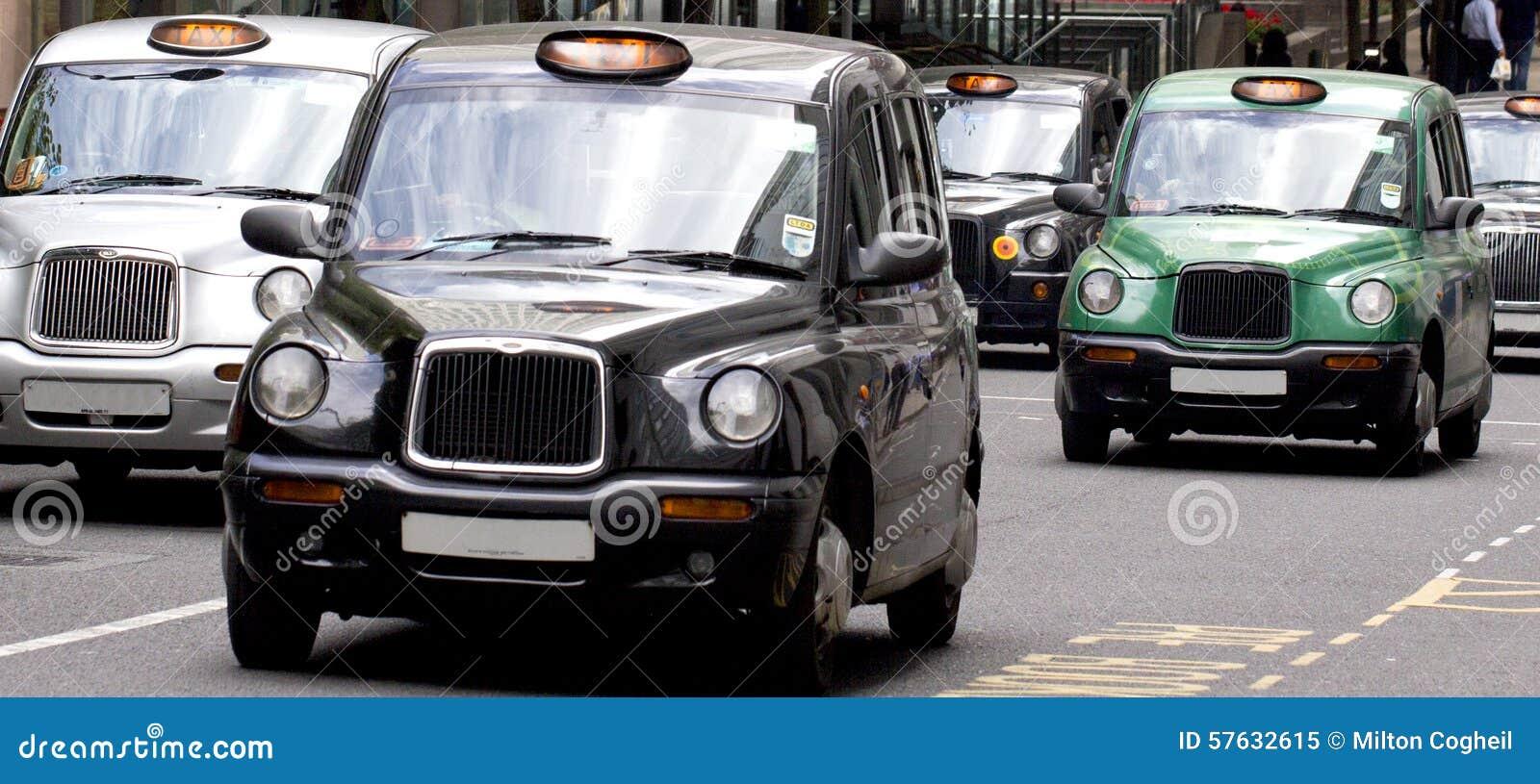 Táxis de táxi de Londres