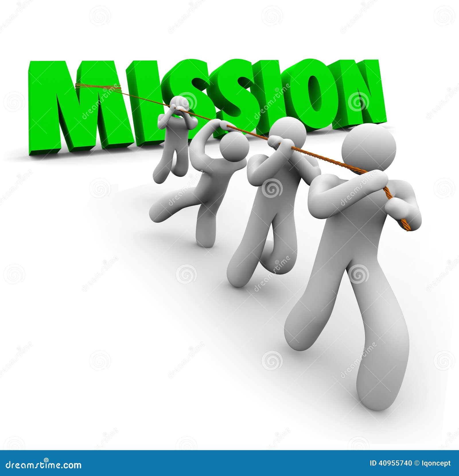 Tâche objective de Team Pulling Together Achieve Goal de mission