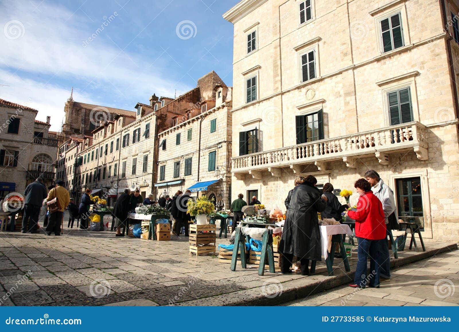 Täglich, Morgenmarkt in Dubrovnik, Kroatien