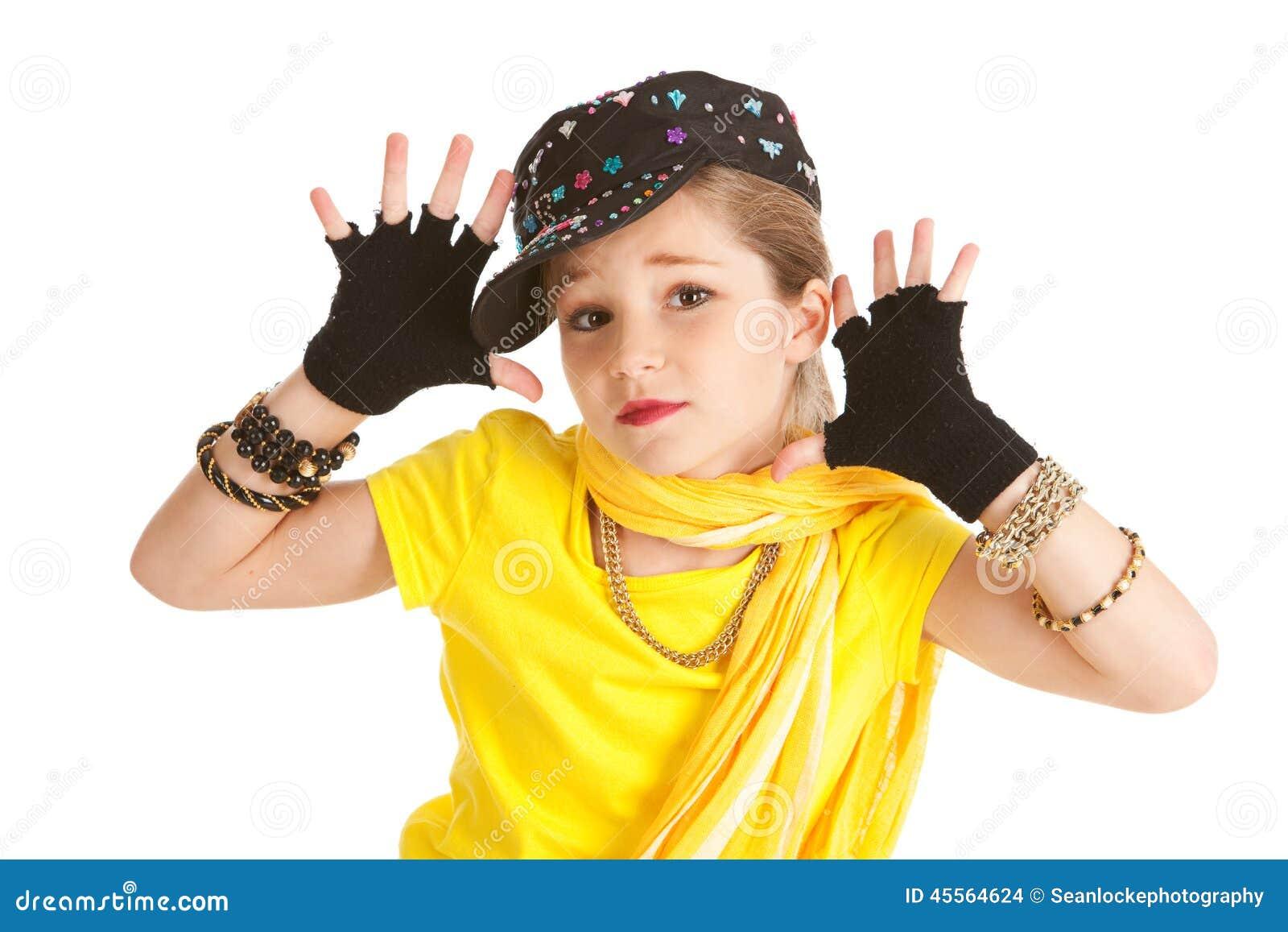 Tänzer: Hip Hop-Tänzer Makes Jazz Hands
