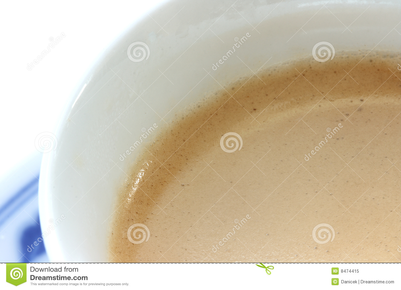 Tät kaffeespresso upp