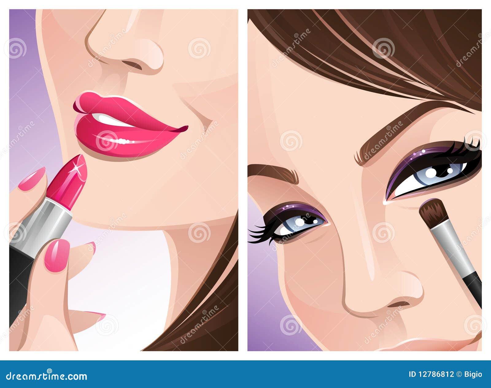 Tät makeup upp