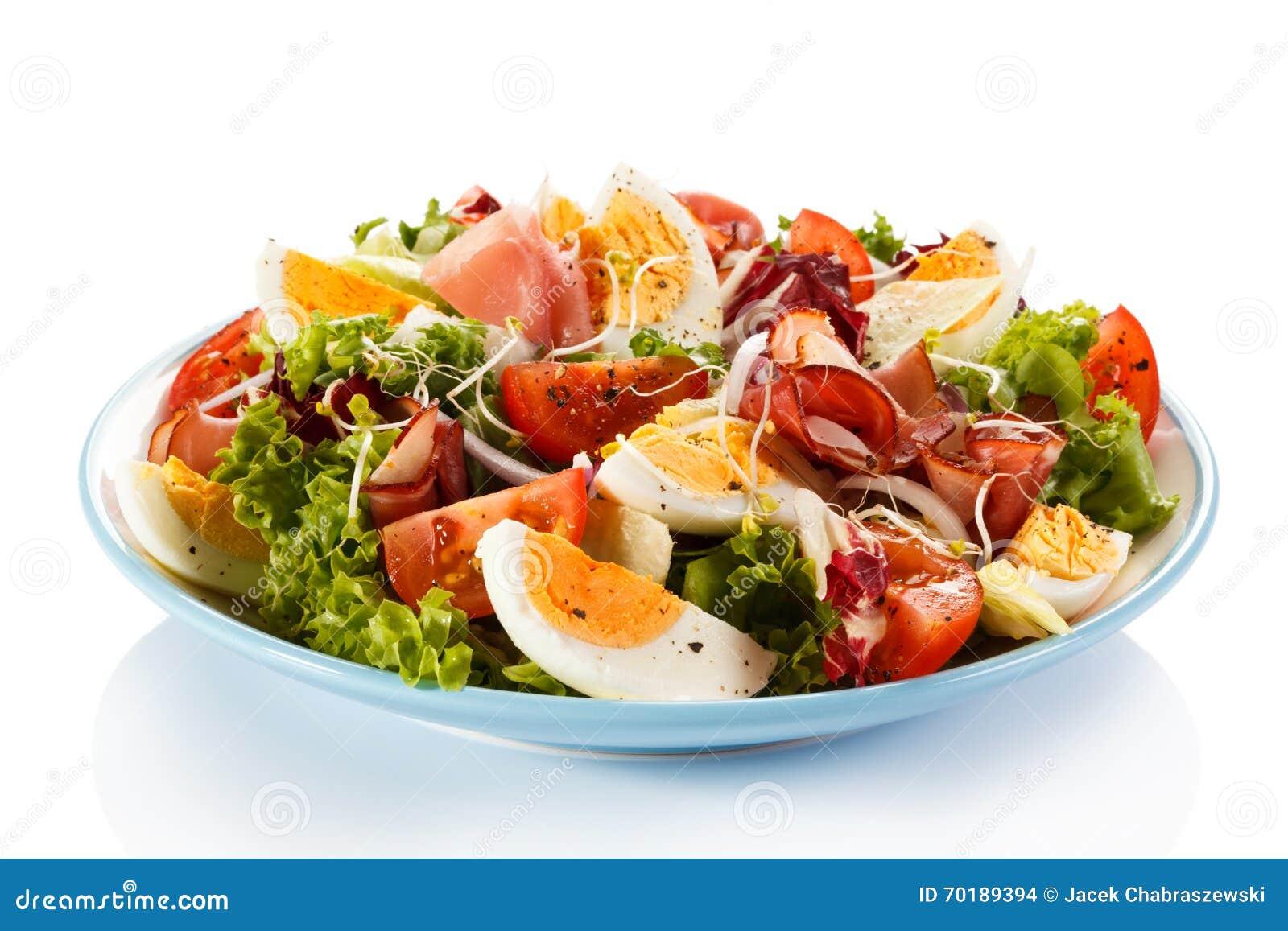 Tät sallad som skjutas upp grönsaken