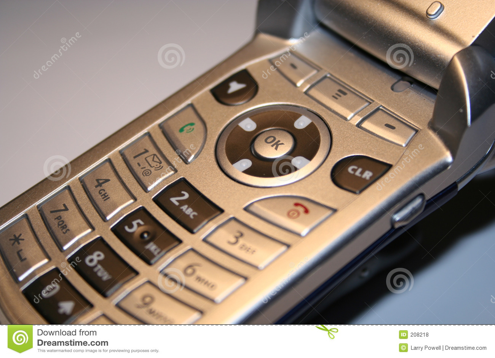 Tät telefon för cell upp