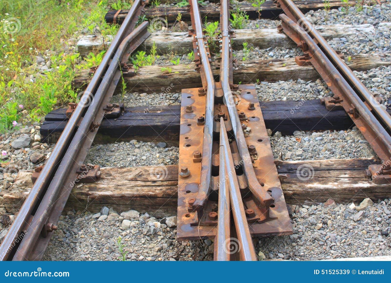Täta daglinjer järnväg spåriner upp två