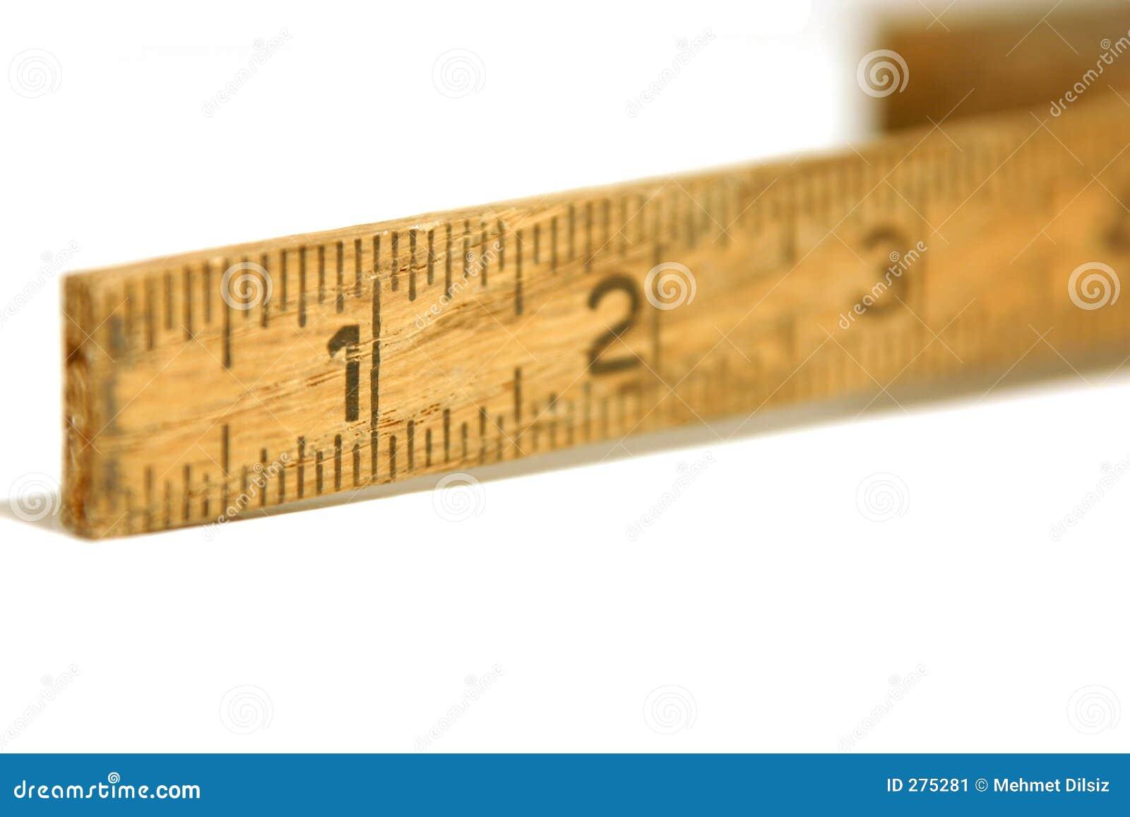 Tätt mätande gammalt linjalband upp