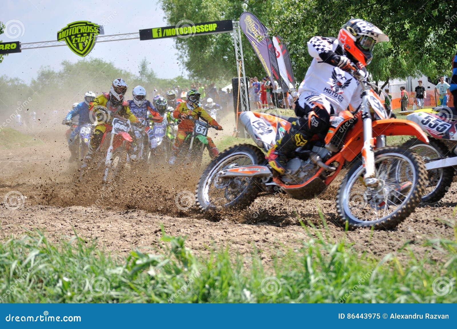 Tävlings- motocross
