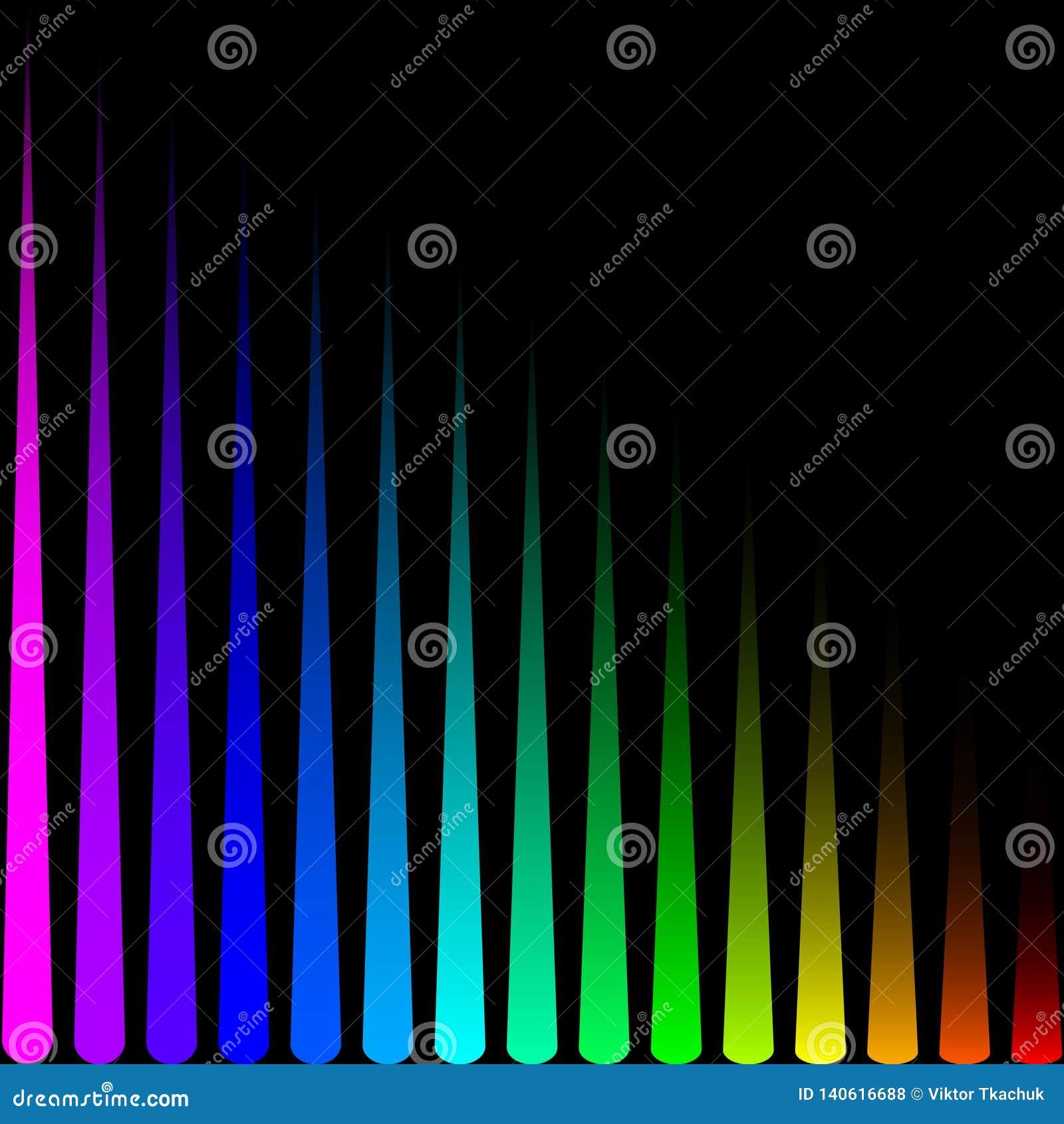 Tło w postaci barwionych pionowo lampasów
