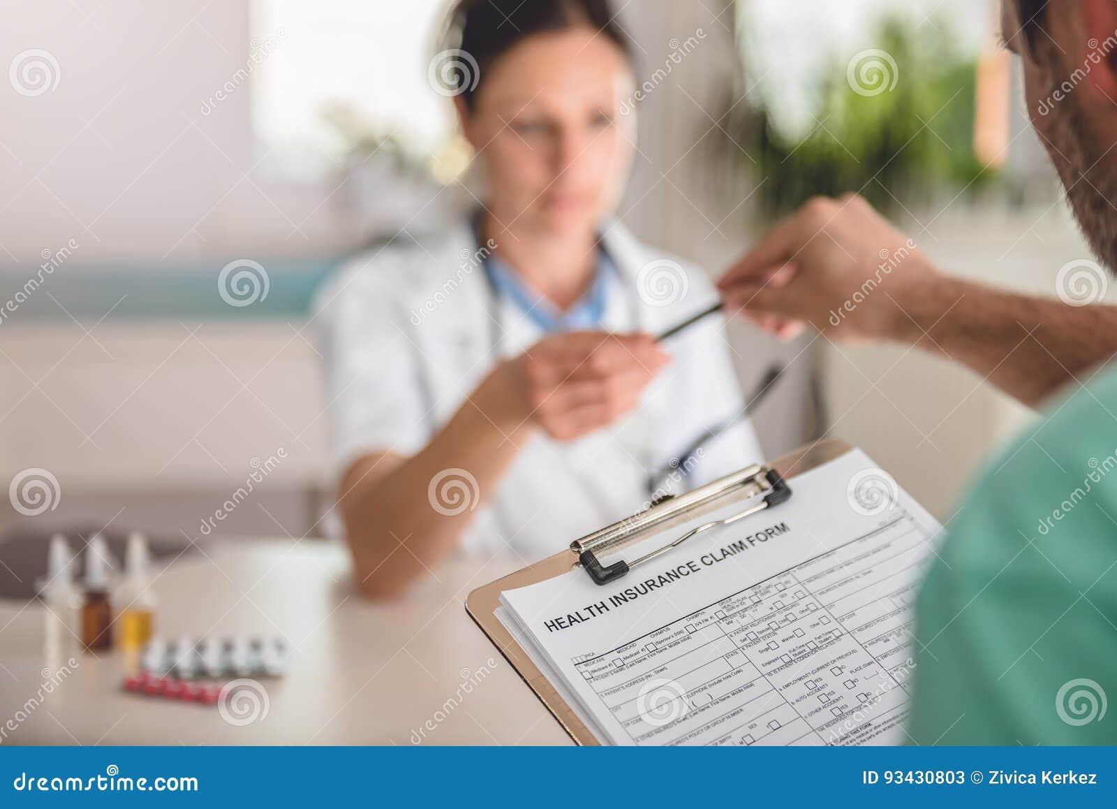 Tålmodig form för arkiveringssjukförsäkringreklamation