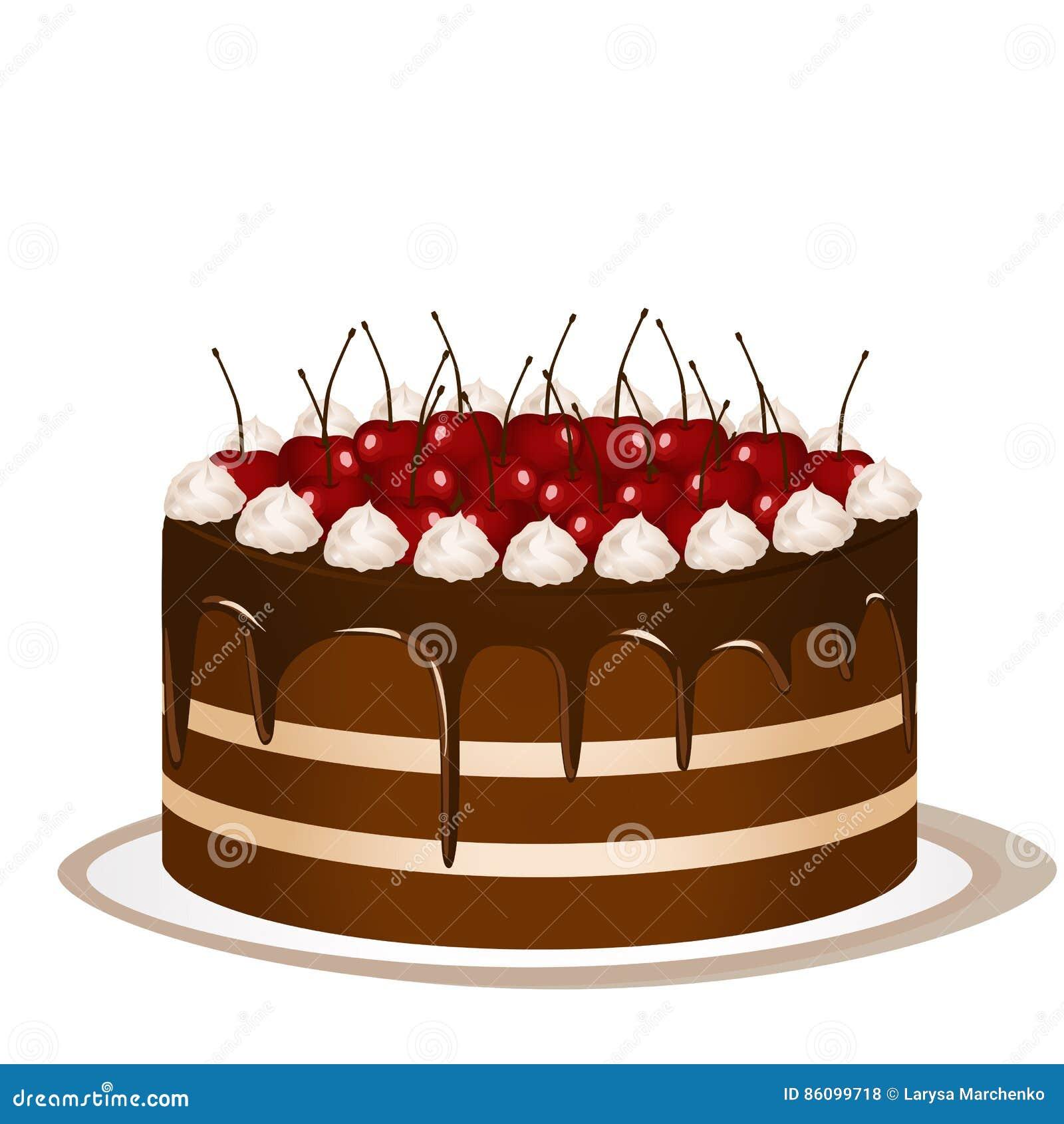 tårta med körsbär