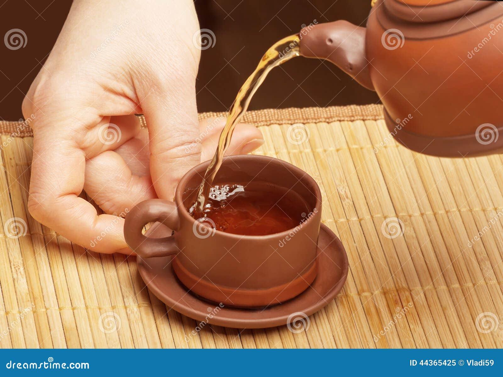 Tè cinese di versamento