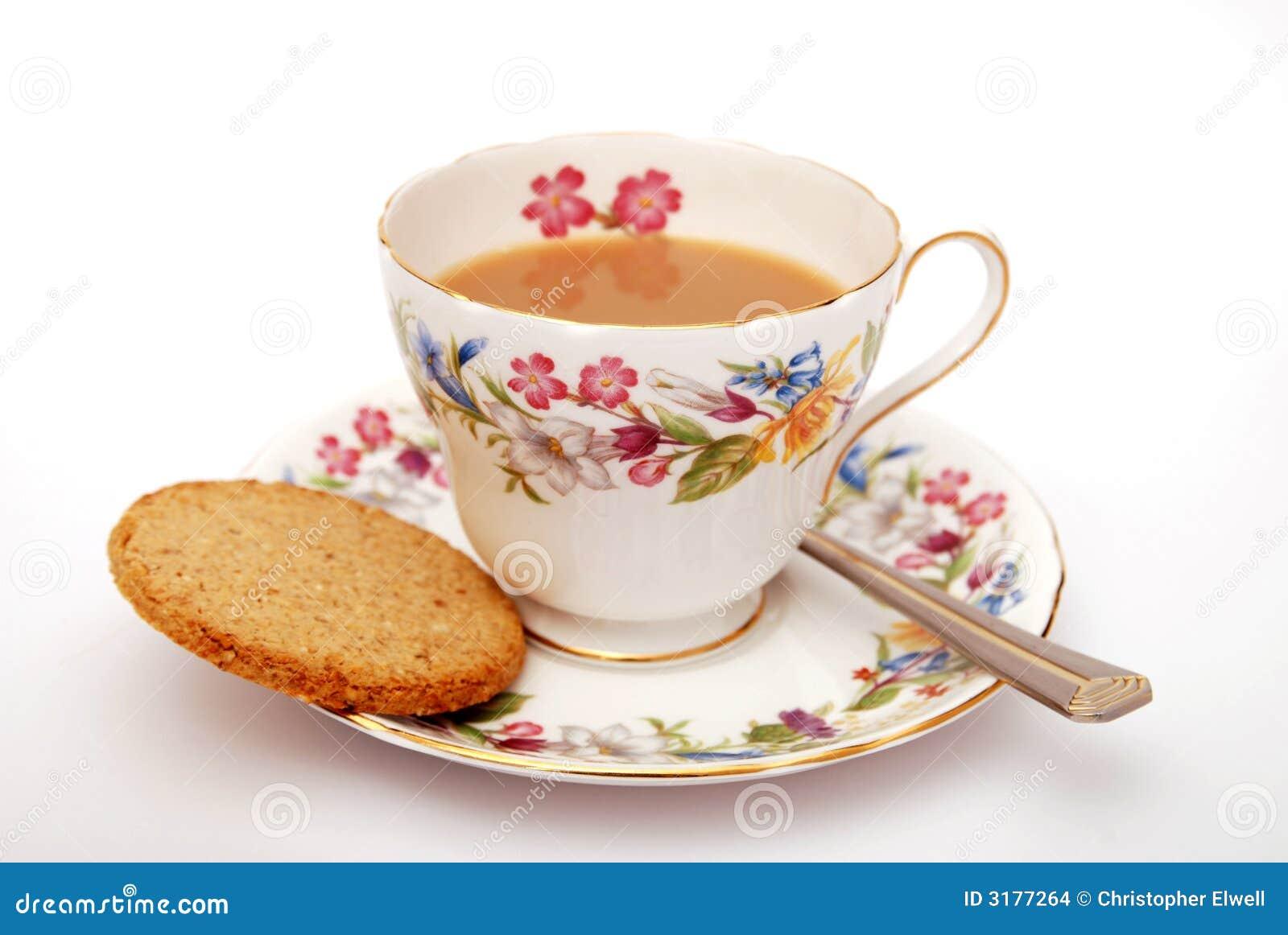 Tè e biscotto inglesi