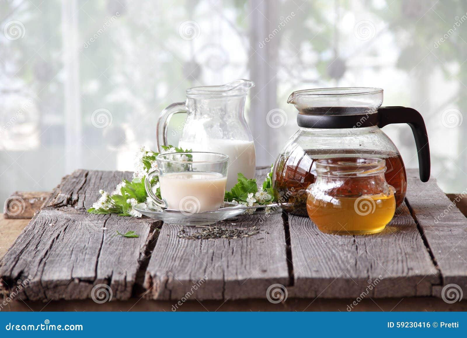 Té con leche y miel
