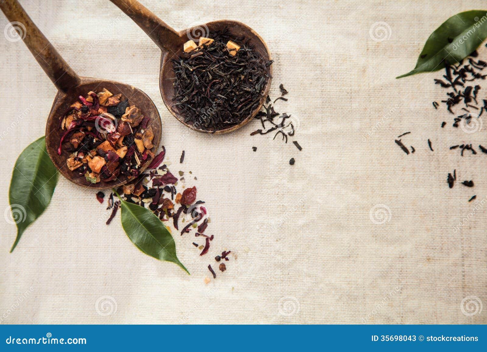 Té de hojas sueltas secado