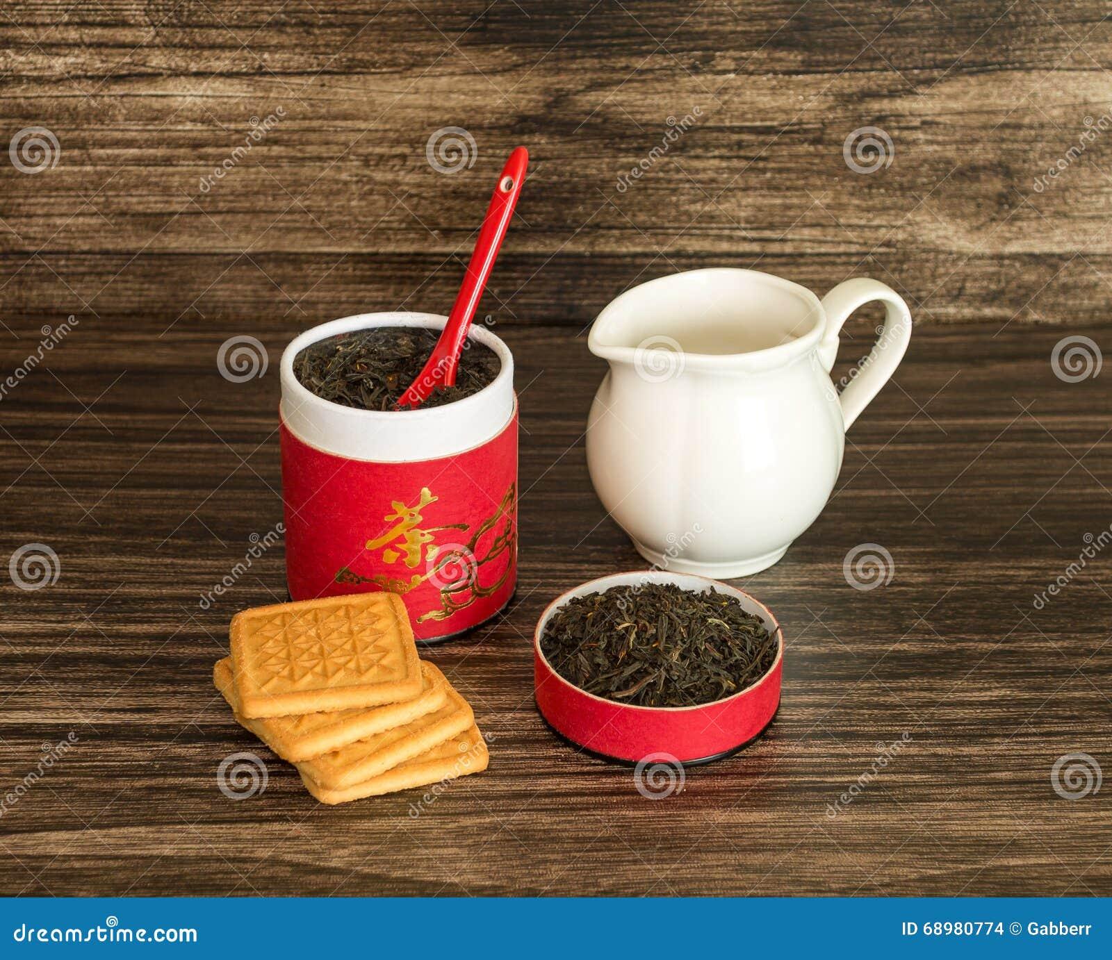 Té, galletas y un tarro