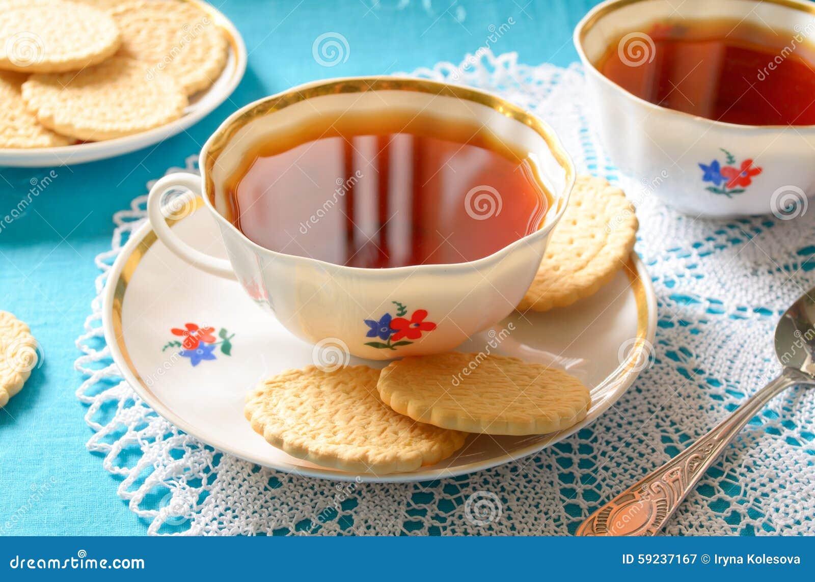 Download Té Inglés Clásico Con Las Galletas Imagen de archivo - Imagen de hoja, café: 59237167