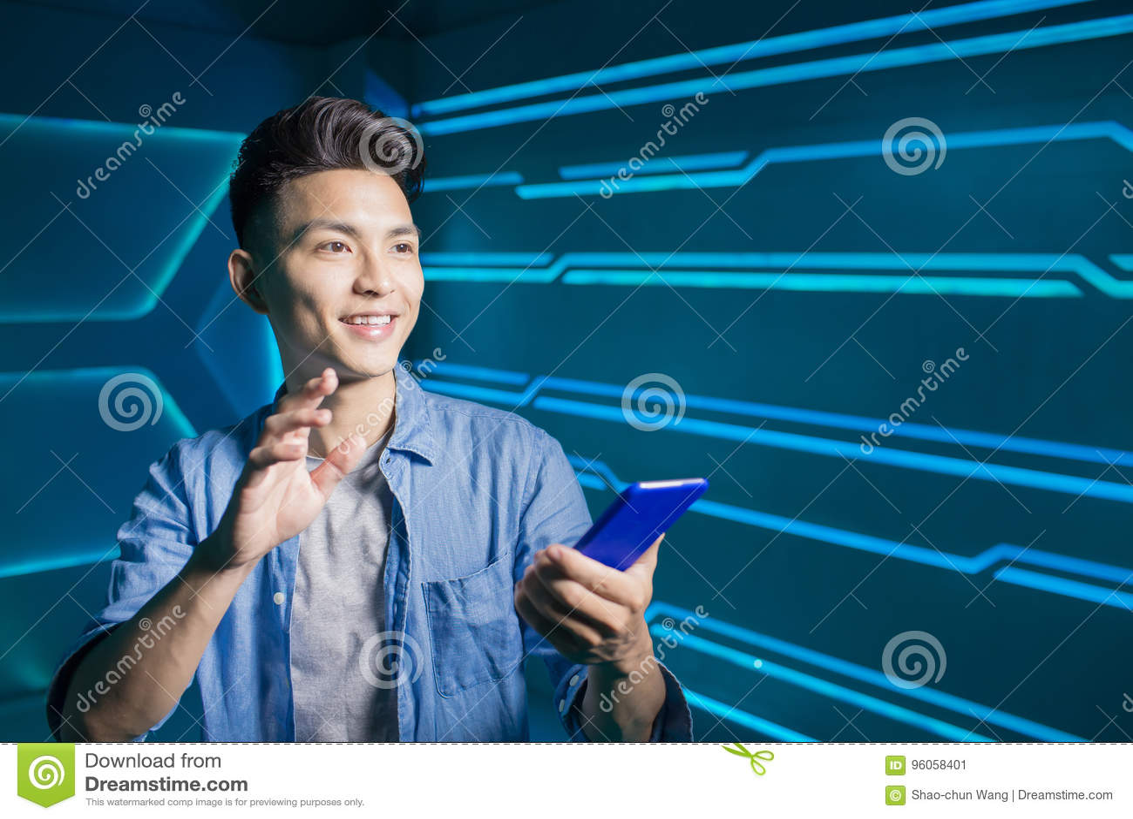 Téléphone d utilisation d homme