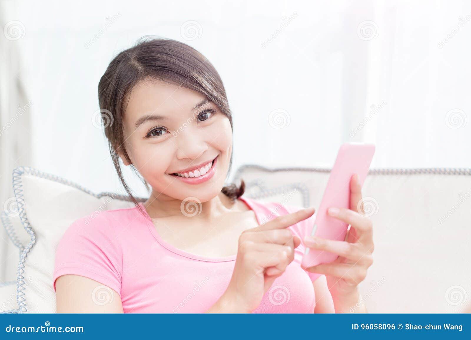 Téléphone d utilisation de femme