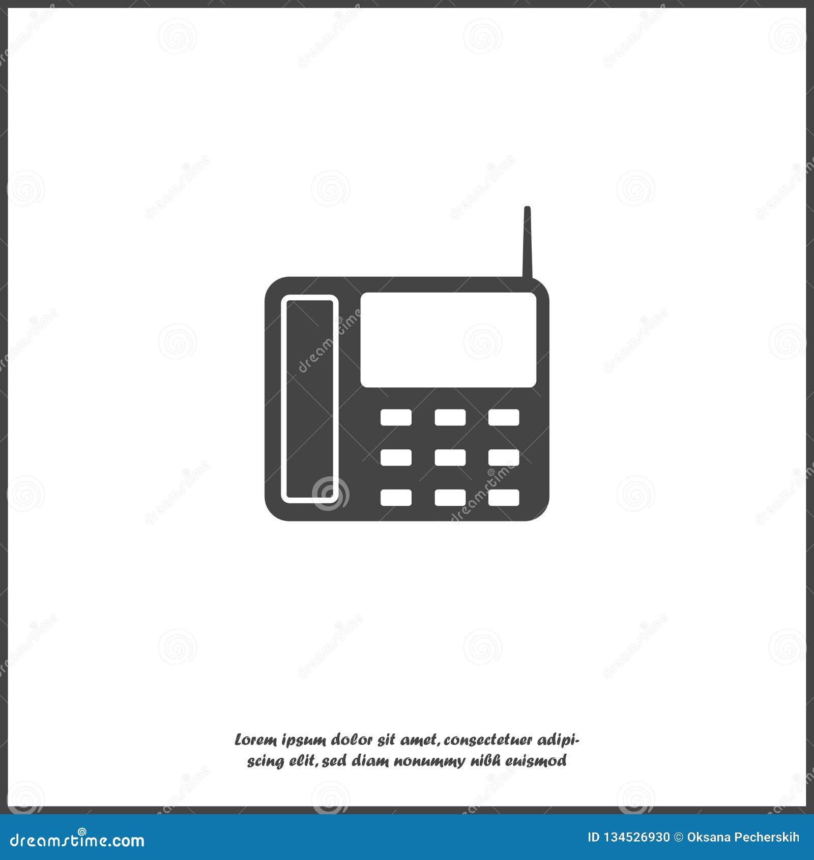 Téléphone De Ligne Terrestre D Icône De Vecteur Avec Des