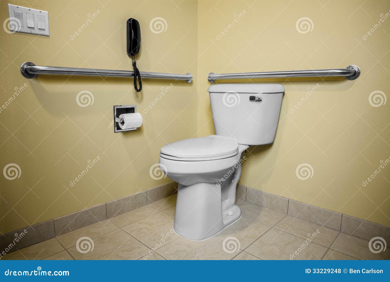 t l phone de toilette d 39 handicap photos libres de droits image 33229248. Black Bedroom Furniture Sets. Home Design Ideas