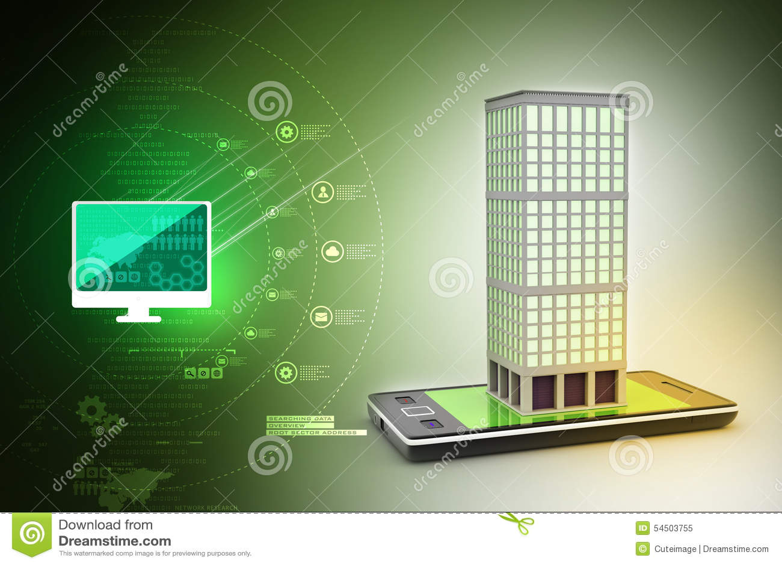 Téléphone intelligent avec le concept d immobiliers