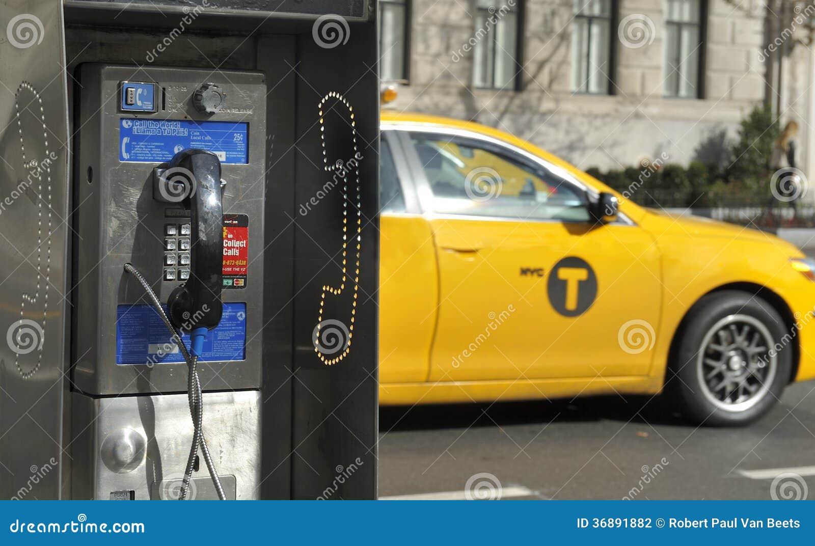 Téléphone payant à New York