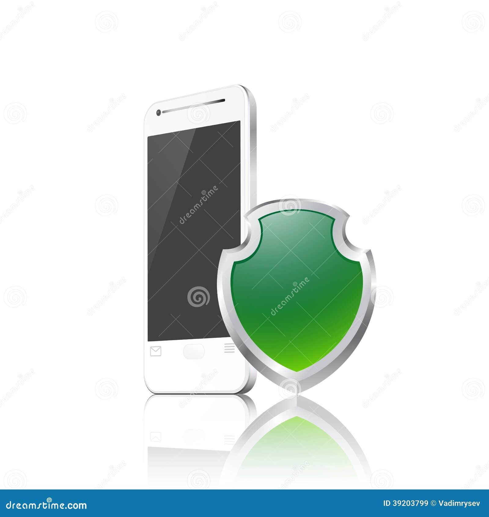 Téléphone portable avec le bouclier
