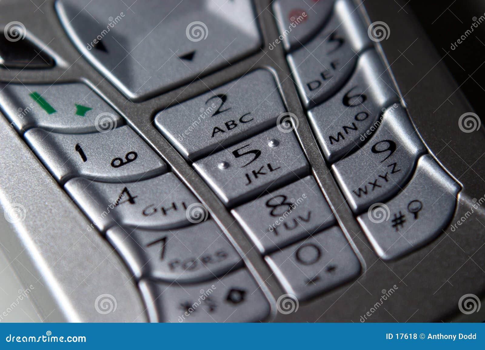 Téléphone portable, clavier numérique
