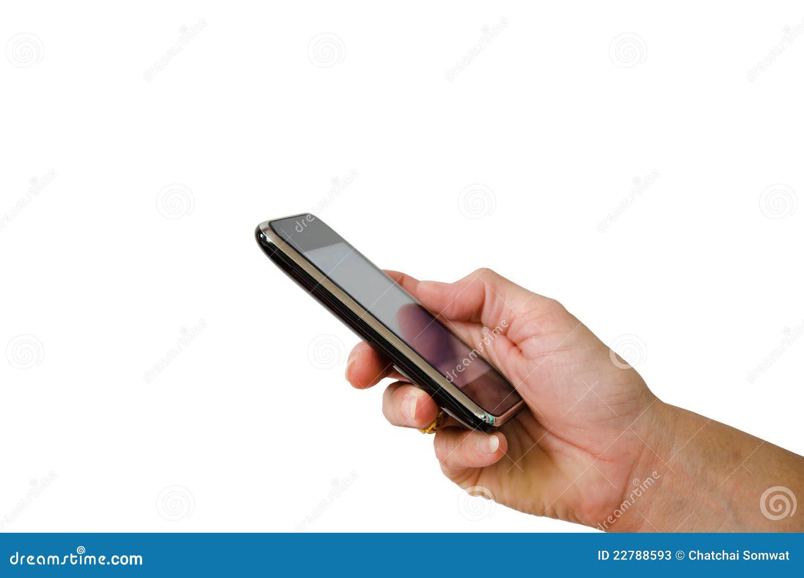 Téléphone portable dans la main
