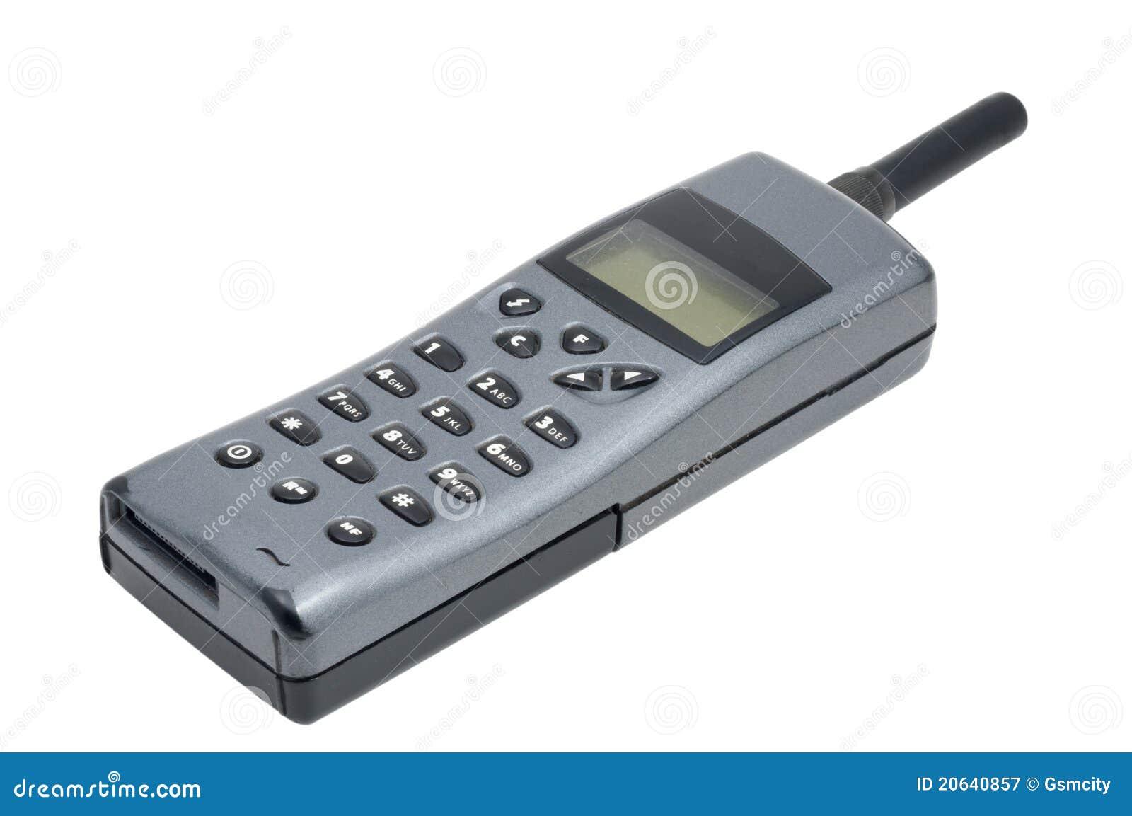 t l phone portable de vieux type photographie stock libre de droits image 20640857. Black Bedroom Furniture Sets. Home Design Ideas