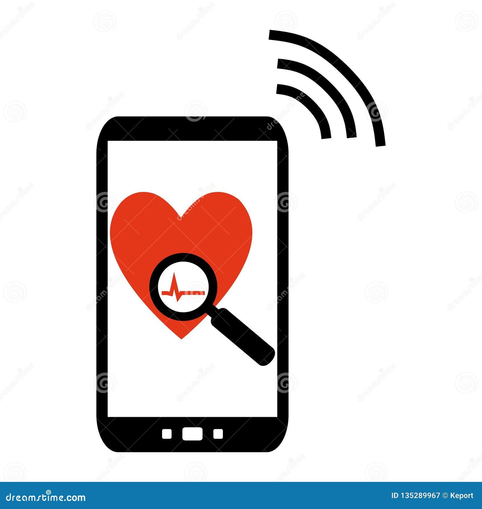 Téléphone portable envoyant des données médicales
