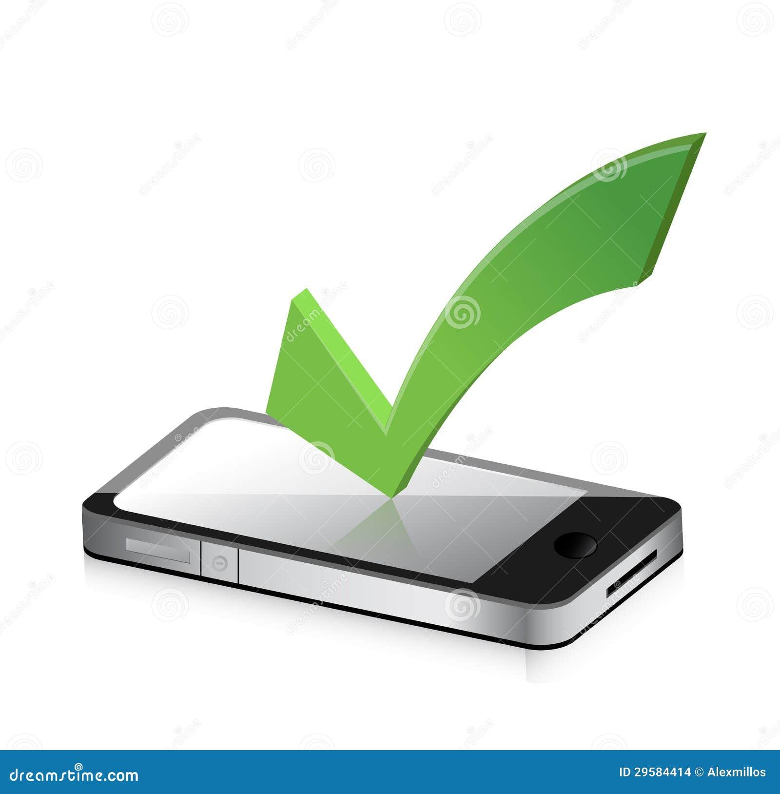 Téléphone portable et icône avec le symbole de la marque de coutil