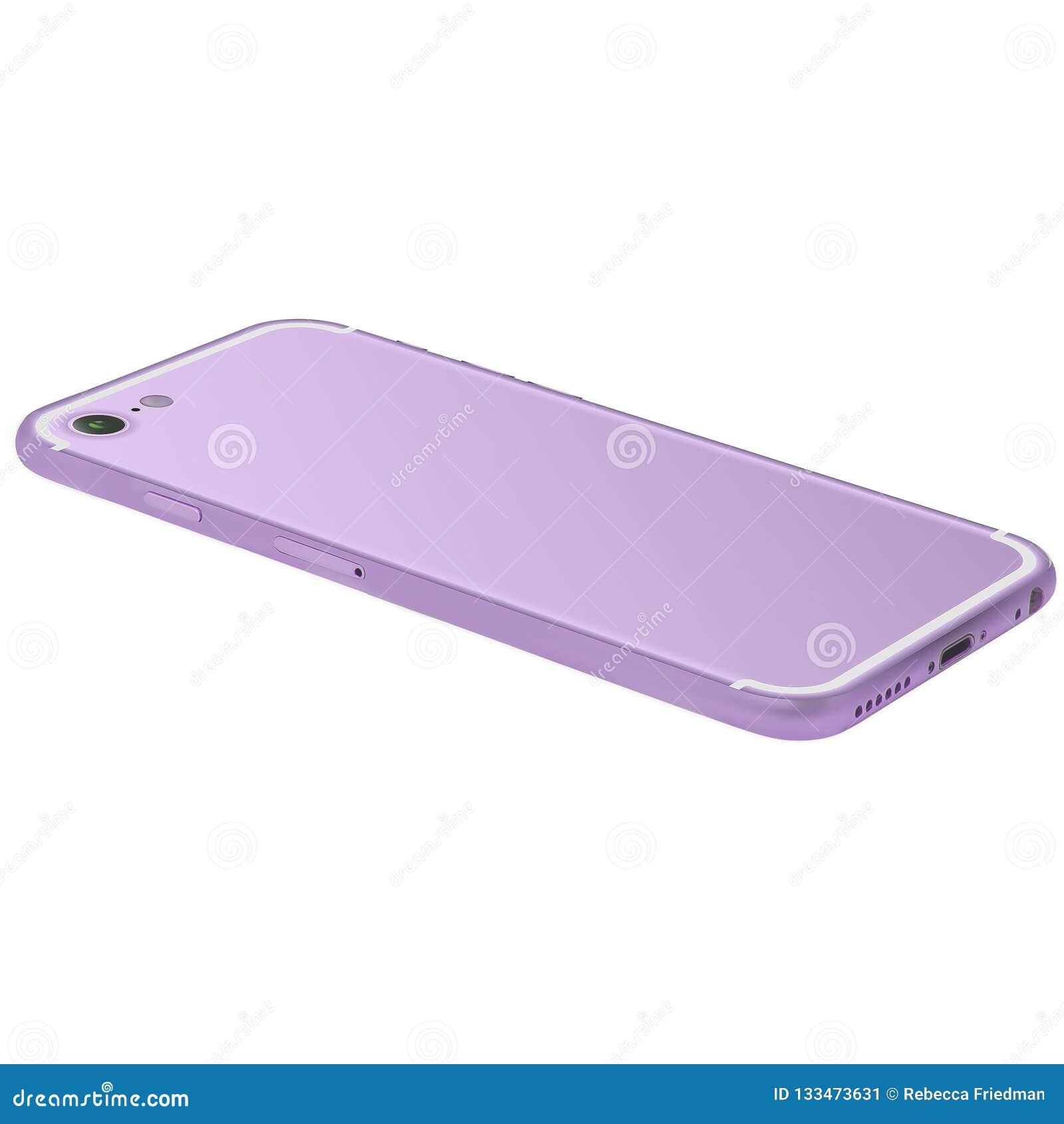 Téléphone portable pourpre