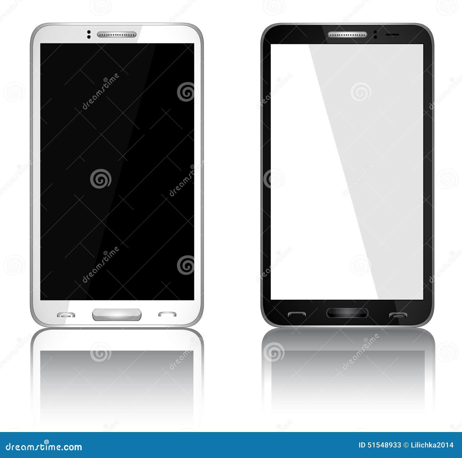 T l phone portable r aliste avec l 39 cran blanc for Photo ecran telephone