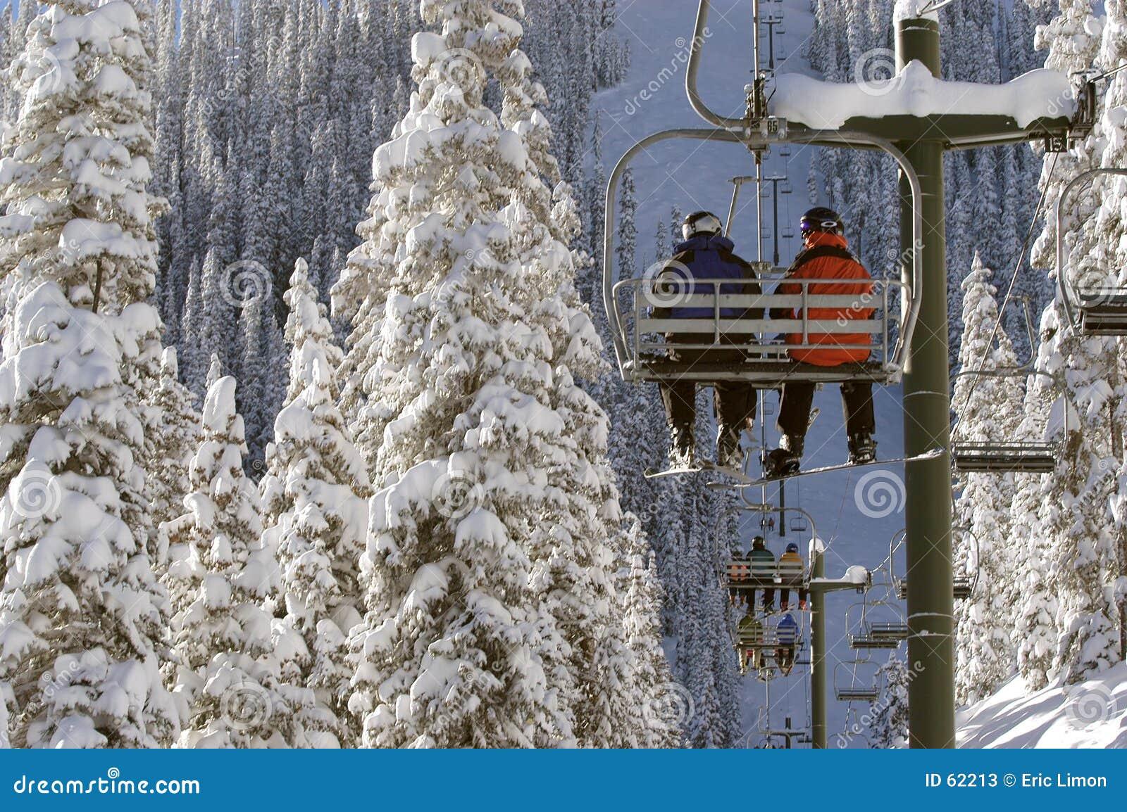 Download Télésiège très froid image stock. Image du blanc, frais - 62213