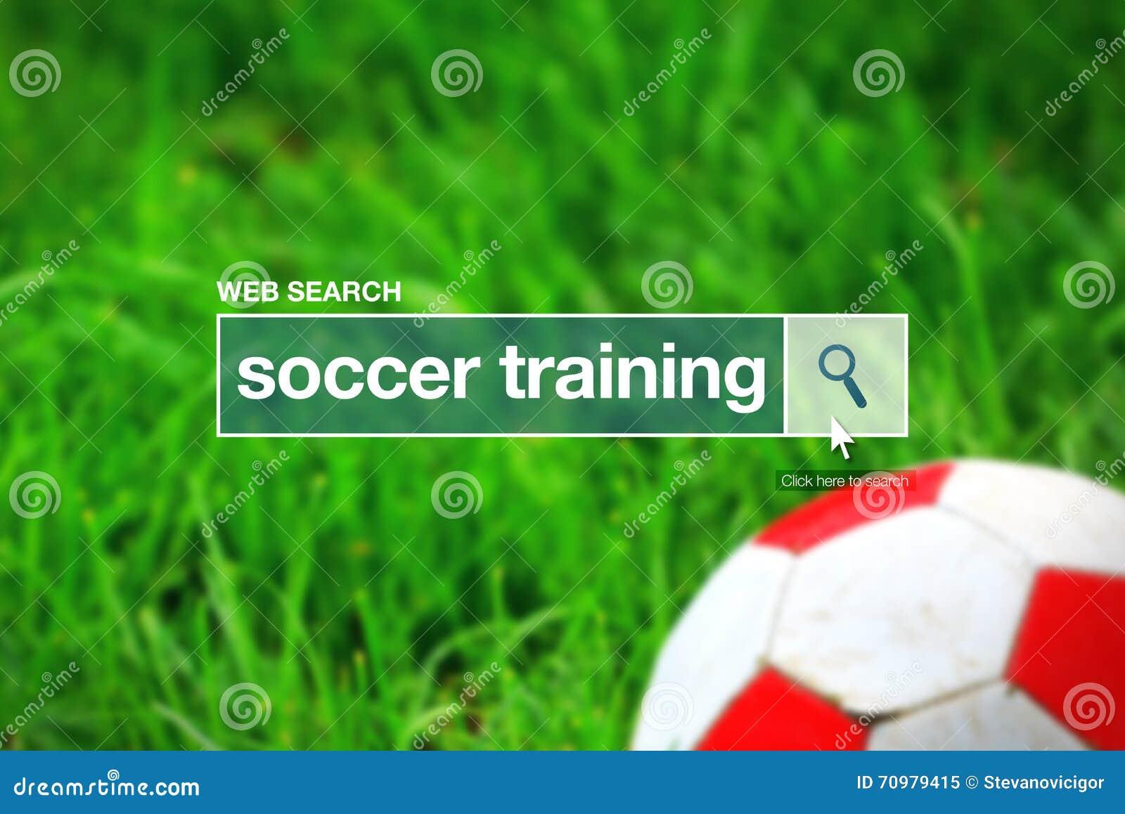 Término del glosario de la barra de la búsqueda del web - entrenamiento del fútbol
