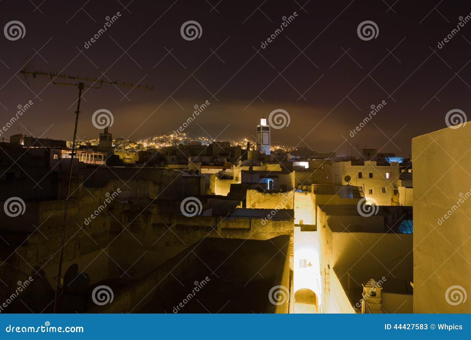 Tétouan La Nuit, Maroc Photo stock - Image: 44427583