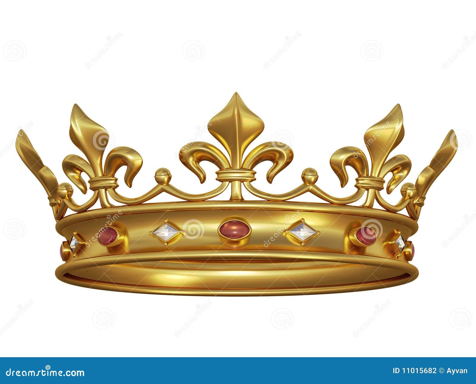 Tête d or avec des bijoux