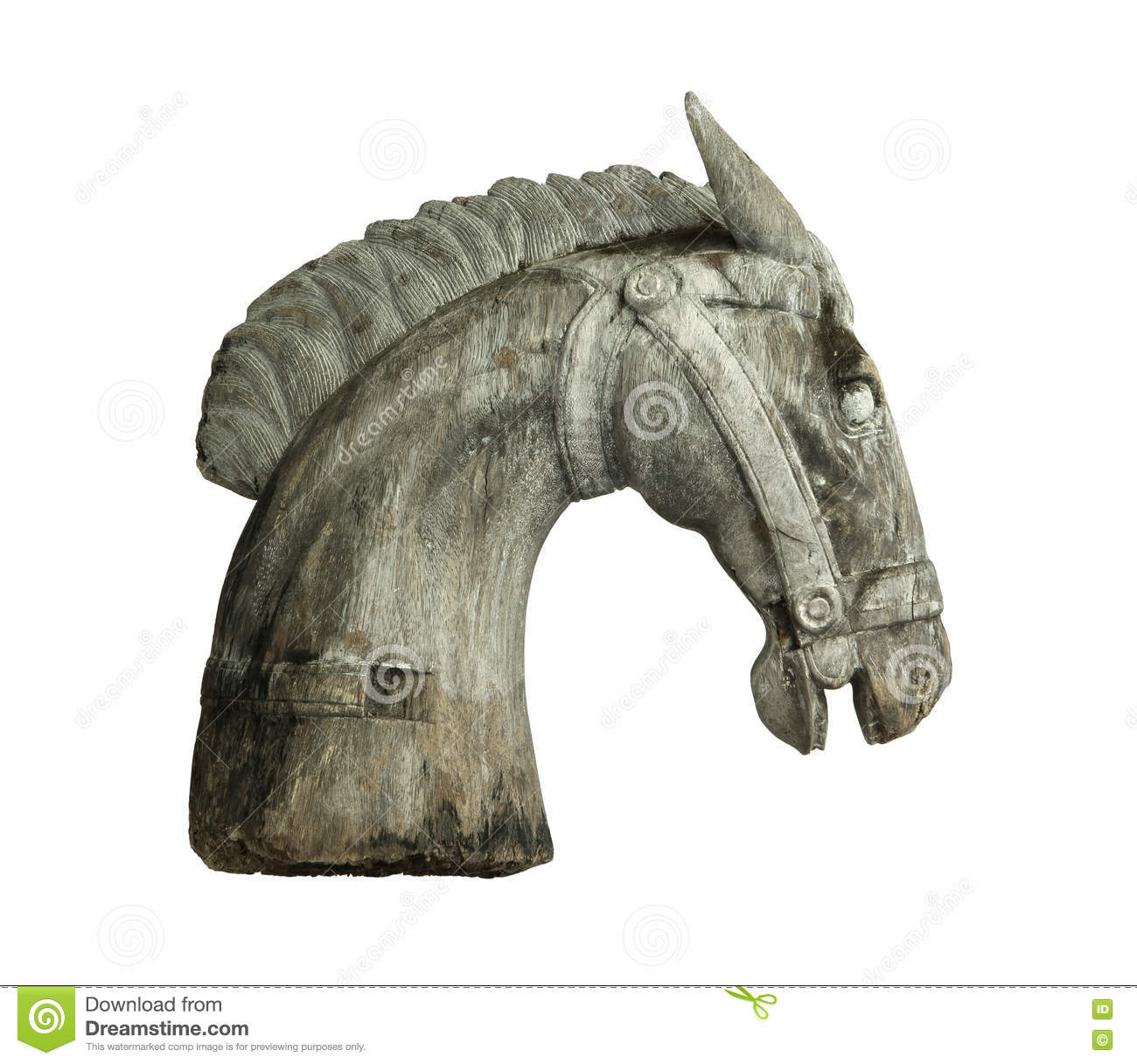 Tête De Cheval En Bois Photo Stock Image Du Sculpture 74895154