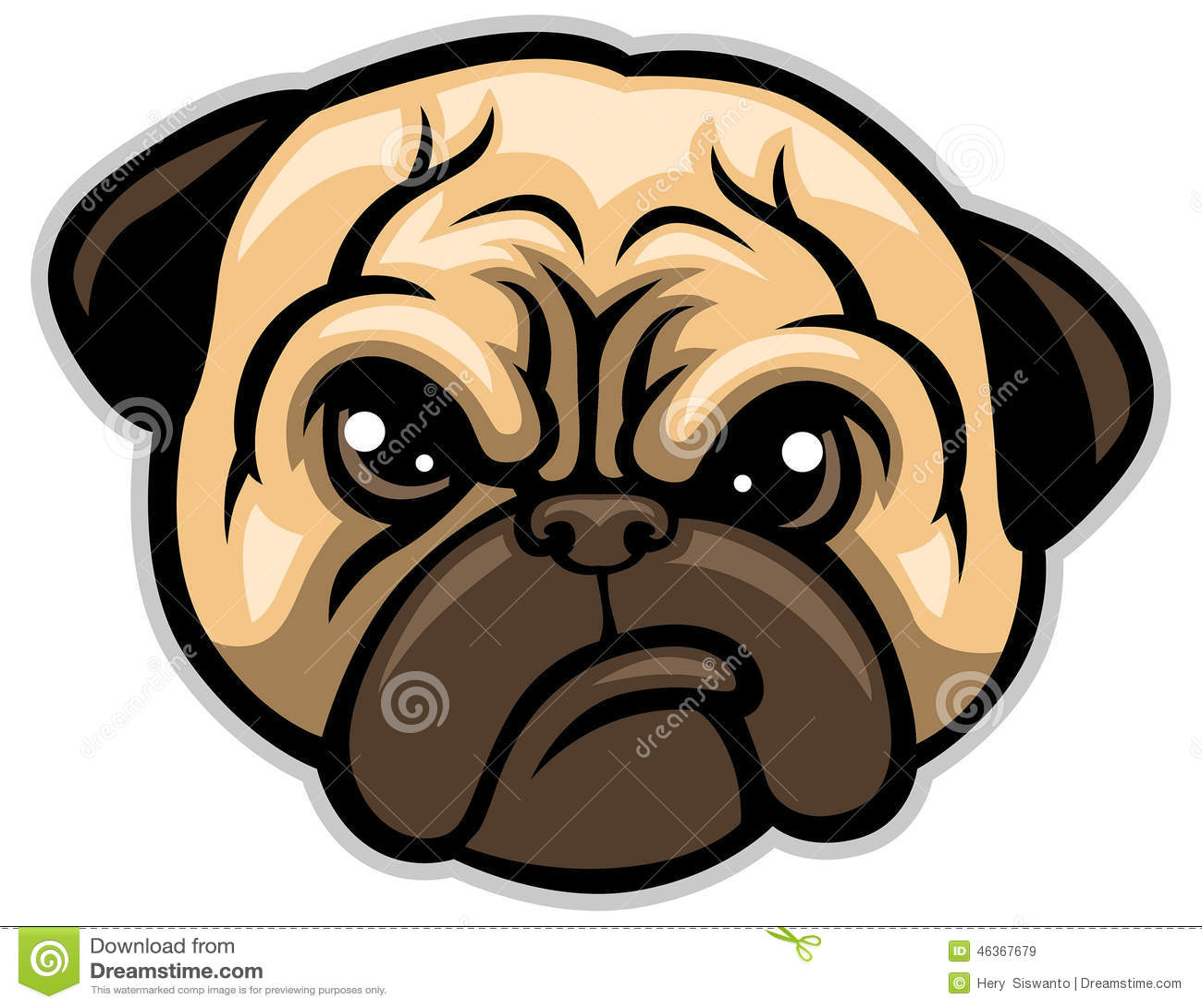 Tête de chien de roquet
